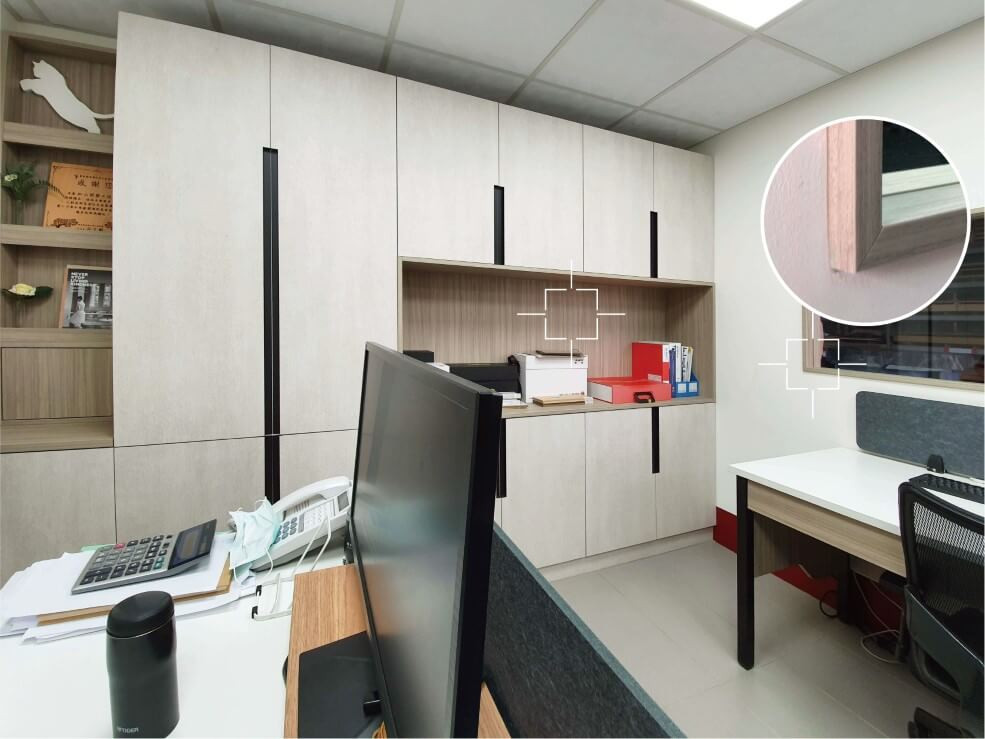 辦公室設計 美耐板結合木作