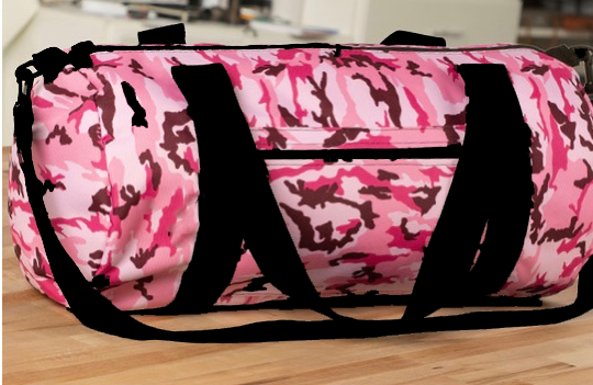 Pink Camo Round Duffle Bag