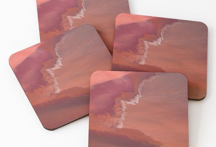 Coasters - Pastel salt flats
