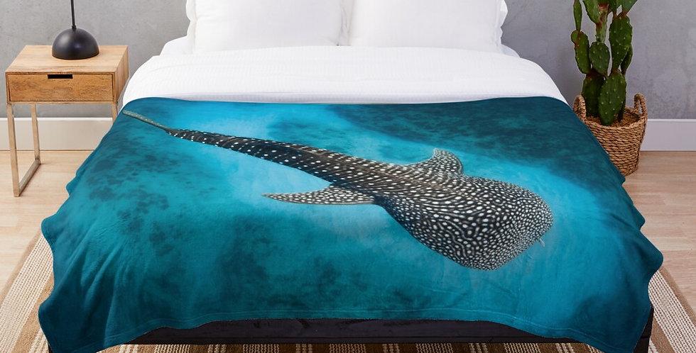 Whale Shark Fleece Blanket
