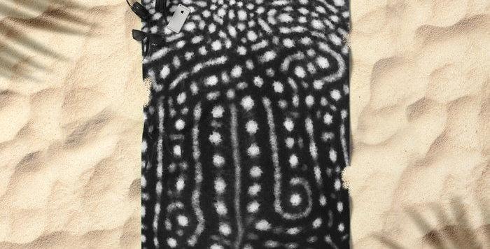 Microfibre Travel Towel - Whale Shark Spots (BLACK)