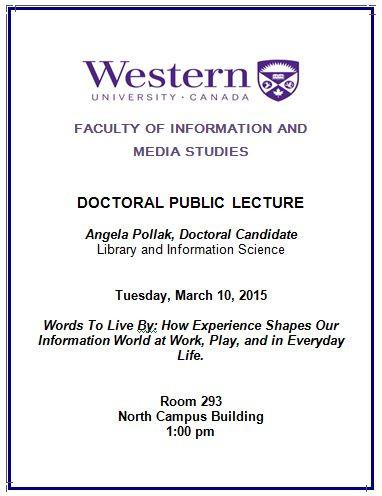 Doctoral Public Lecture Invitation