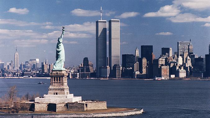 World Trade Center & Statue of Liberty, NY
