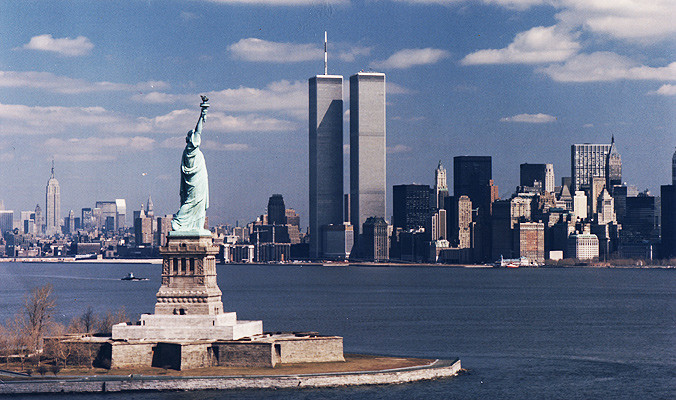 World Trade Center & Statue of Liberty, NY