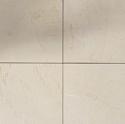 Crema Marfil 12x12 polished marble