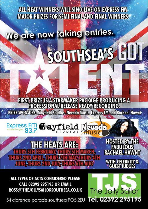 Southsea's Got Talent is now in it's third year!! Great prizes to be won!