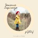 Grafika na stronie MiGato Media. Na grafice dziewczynka w czerwonej czapce i żółtym płaszczu stoi w polu. Tekst dookoła okrągłej ramki brzmi: Jesienne inspiracje. Wyjątkowe przeceny! Darmowe grafiki na https://migato.pl