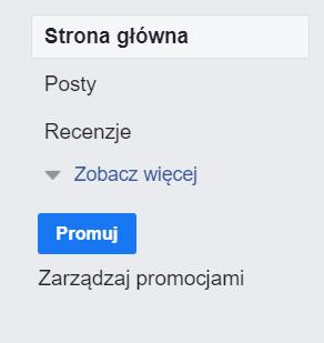 Na zdjęciu zrzut ekranu. Fragment widoku serwisu Facebook. Instrukcja, jak założyć własny fanpage na Facebooku.