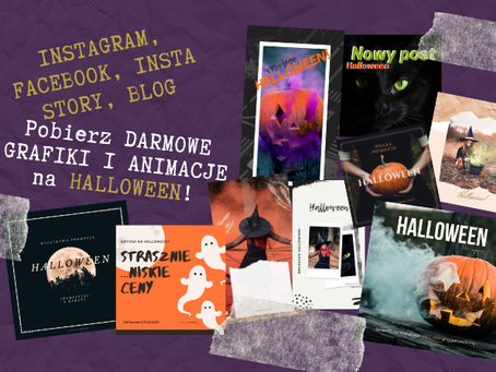 HALLOWEEN | Grafiki i animacje na Facebooka, Instagrama, Insta Story i bloga - pobierz za darmo!