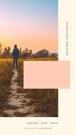 Grafika do relacji na Instagramie. Geometryczne kształty w łososiowym i kremowym kolorze. Zdjęcie przedstawiające sylwetkę mężczyzny, wysokiego i szczupłego, w bluzie, z kapturem na głowie, odwróconego tyłem i idącego przez łąkę o zmierzchu. Tekst: Jesień 2019. Darmowe grafiki na https://migato.pl