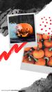 Na grafice na Insta Story zdjęcia z polaroida przedstawiającą dynię wyciętą na Halloween, z której leci dym oraz wiele dyń. Kolorowe czerwone kropki oraz szare maźnięcia jakby pędzlem i akwarelą. Tekst: Na grafice utrzymanej w beżowych, jasnych, neutralnych kolorach, znajduje się wycięte zdjęcie przedstawiające rudowłosą kobietę w kurtce i szaliku , stojącą na tle łąki podczas jesieni. Tekst na grafice: Najlepsze Jesienne destynacje. Planujesz jesienny wyjazd? Przeczytaj koniecznie. Darmowe grafiki na www.migato.pl.
