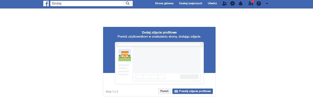 Na zdjęciu rzut ekranu na serwisie społecznościowym Facebook. Instrukcja, jak założyć stronę na Facebooku