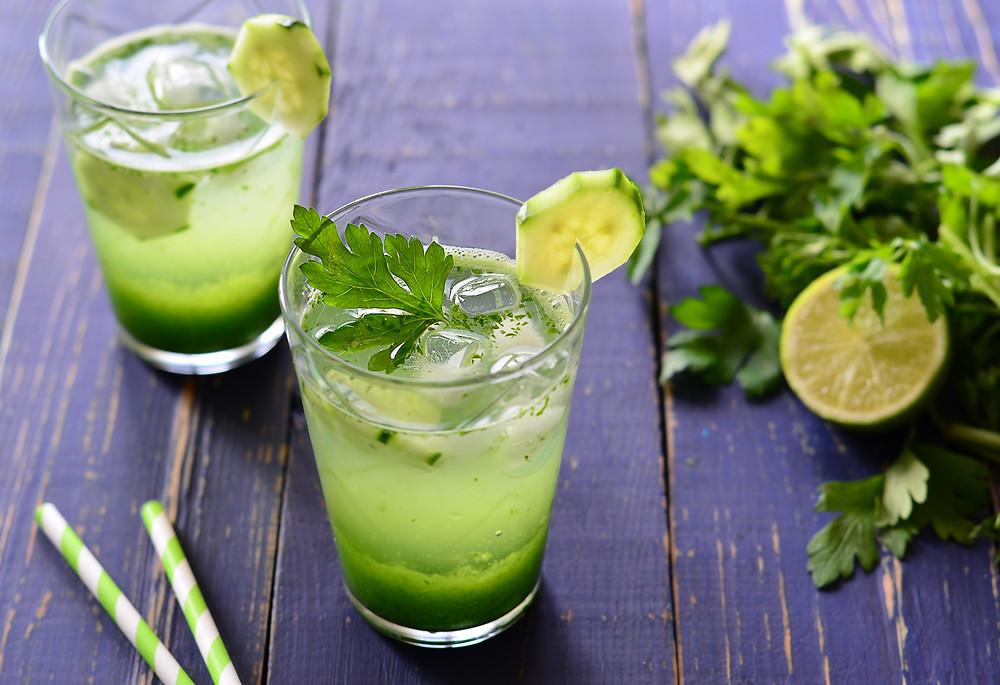 energetyczny drink z naci pietruszki