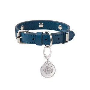 Christofle Royal Jack pet collar in leather with engravable tag