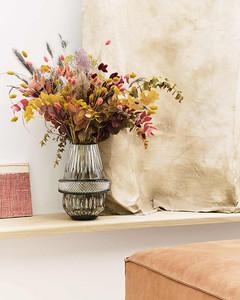 Saint-Louis flannel grey hand cut crystal vase