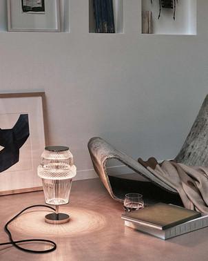 Matrice crystal lamp from Saint-Louis by Kiki Van Eijk