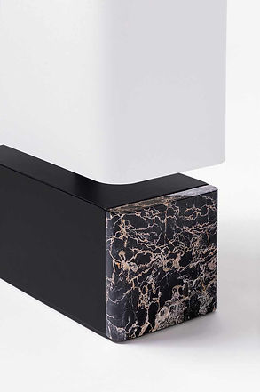 Polo marmo table lamp with marble detail from GioBagnara
