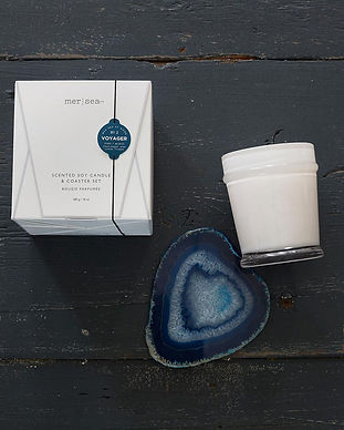 Agate Coaster Candle