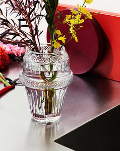 Crystal Matrice vase by Saint-Louis