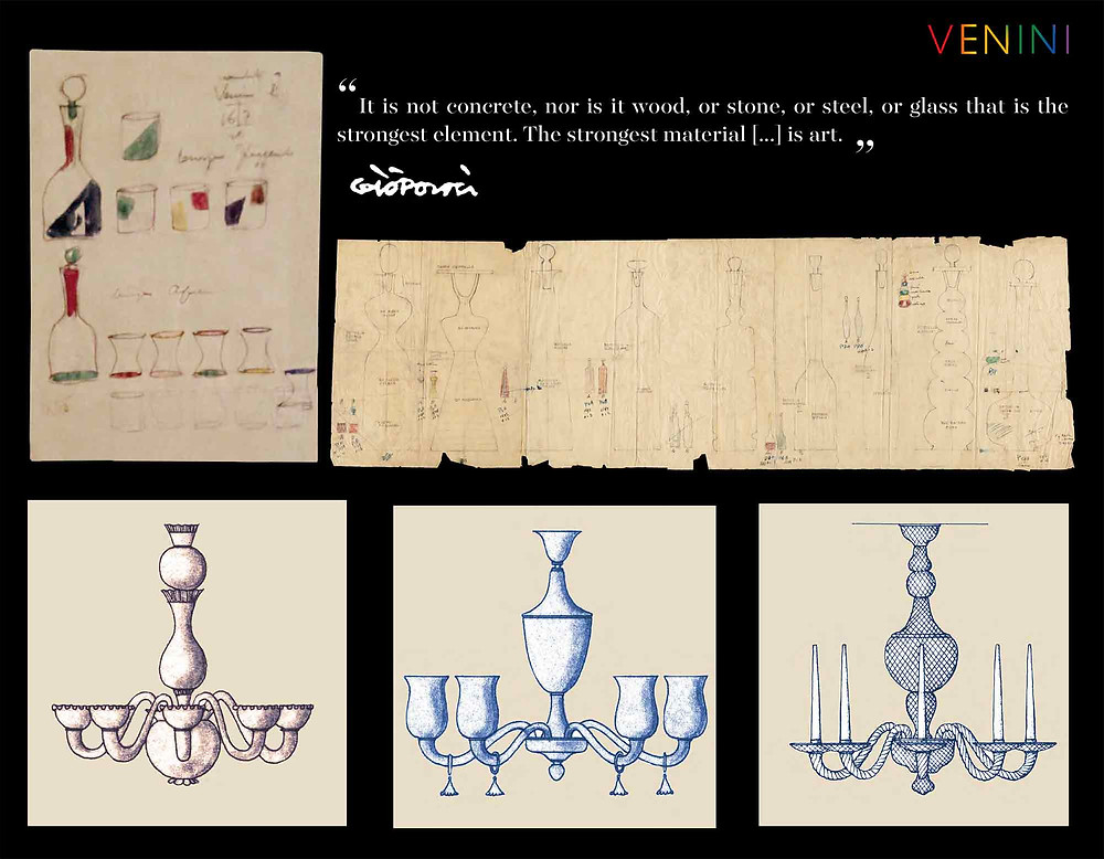Drawings from the VENINI historical archive