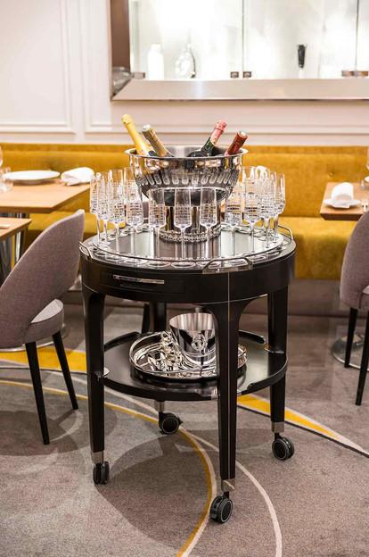 Essentiel Champagne Trolley by Christofle
