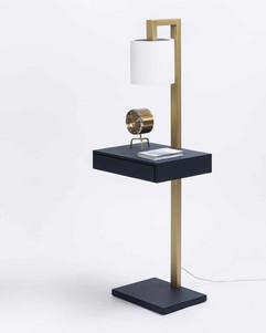GioBagnara Ernesto Side Table with Lamp
