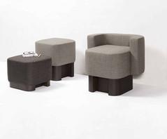 Lloyd armchair with pouf from Glen Sestig for GioBagnara