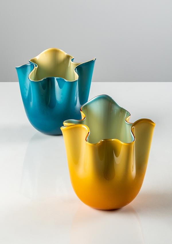 Fazzoletto Bicolore in 2020's new colours - Amber and Horizon