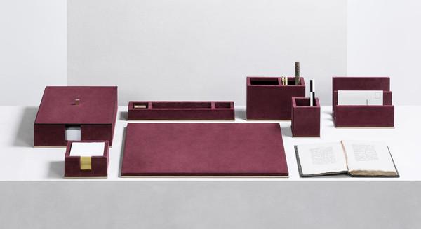 Suede Firenze desk set from GioBagnara