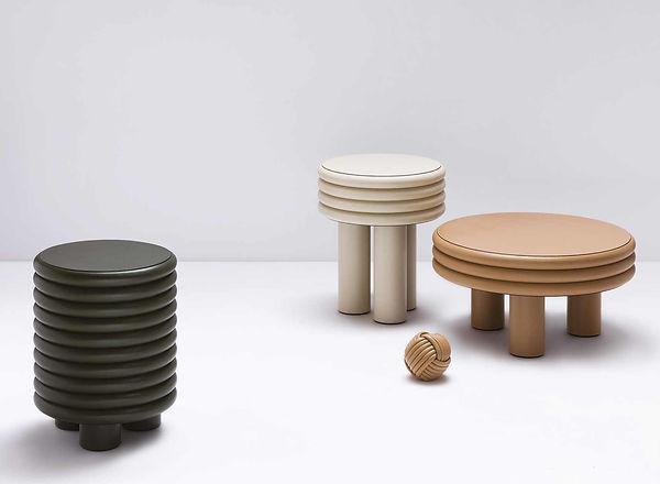 Scala coffee tables from Stephane Parmentier x Giobagnara