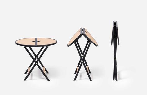 Novacento folding side table by GioBagnara