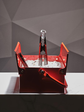 Barock ice bucket and tongs