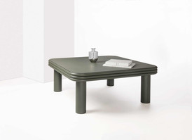 Scala coffee table in Italian calfskin leather by Stephane Parmentier for GioBagnara