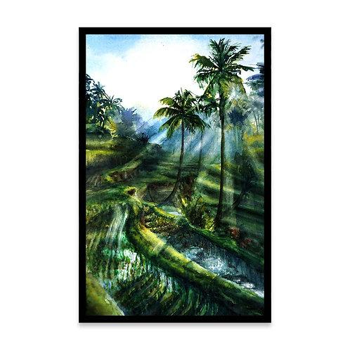 Cuadro Balinese rice fields