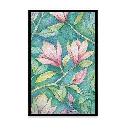 Cuadro Magnolias en negativo