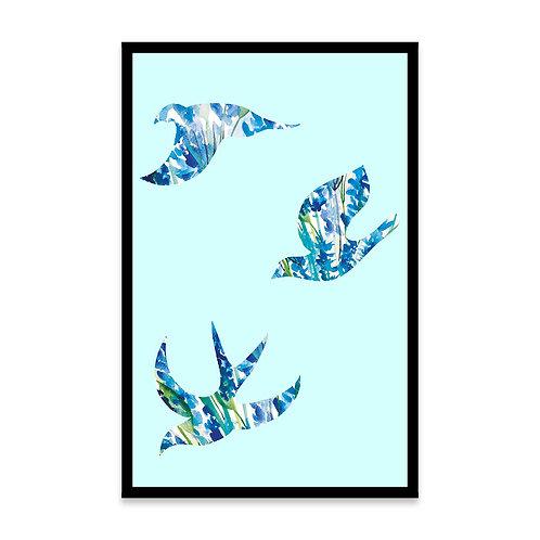 Cuadro Pájaros Flor