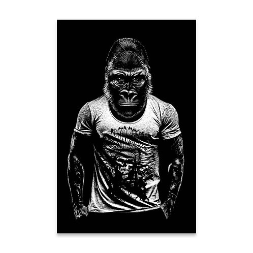 Cuadro Gorila Tattoo
