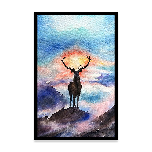 Cuadro Deer on the top of the world