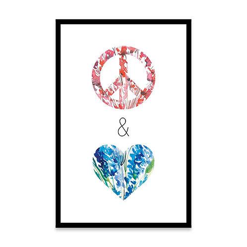 Cuadro Paz y Amor