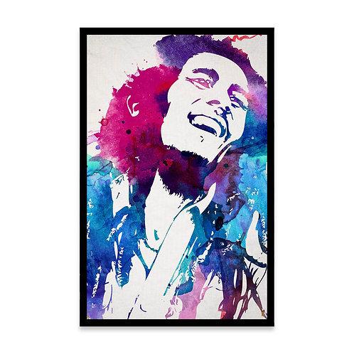 Cuadro Acuarela Bob Marley
