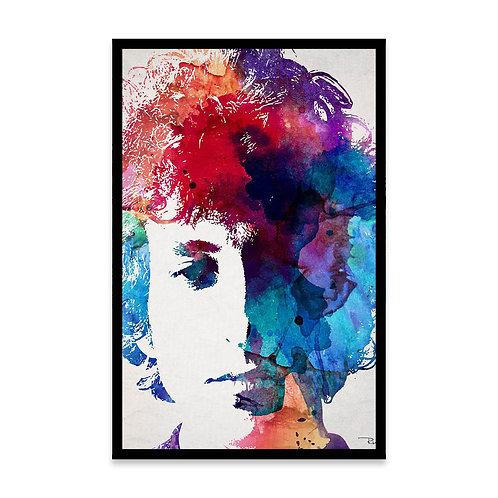Cuadro Acuarela Bob Dylan