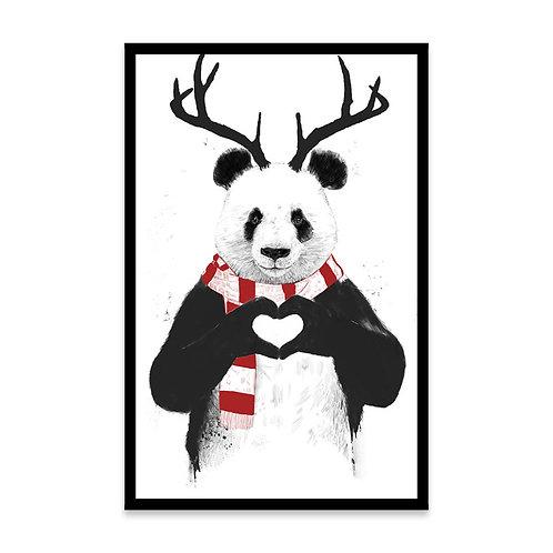 Cuadro Xmas Panda