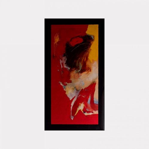 Cuadro Triptico Rojo I