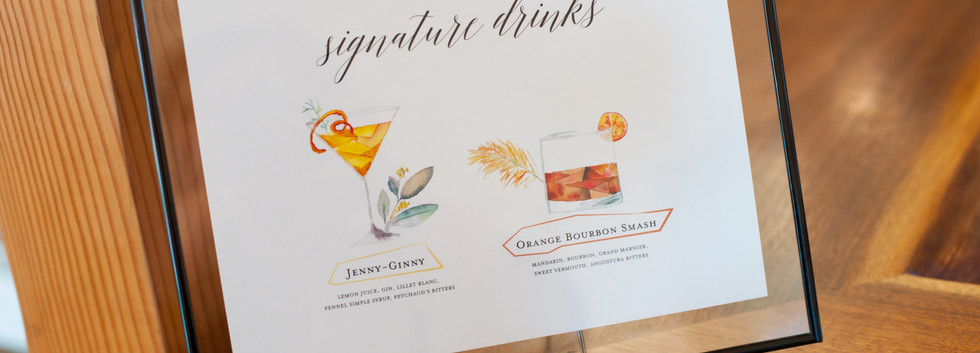 watercolor signature drinks
