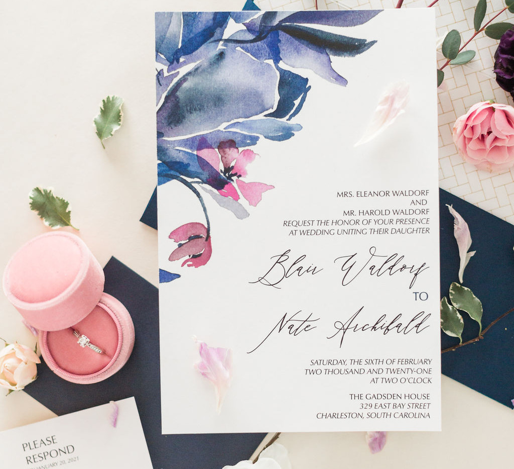 j-char-designs-abstract-blue-classic-invitations