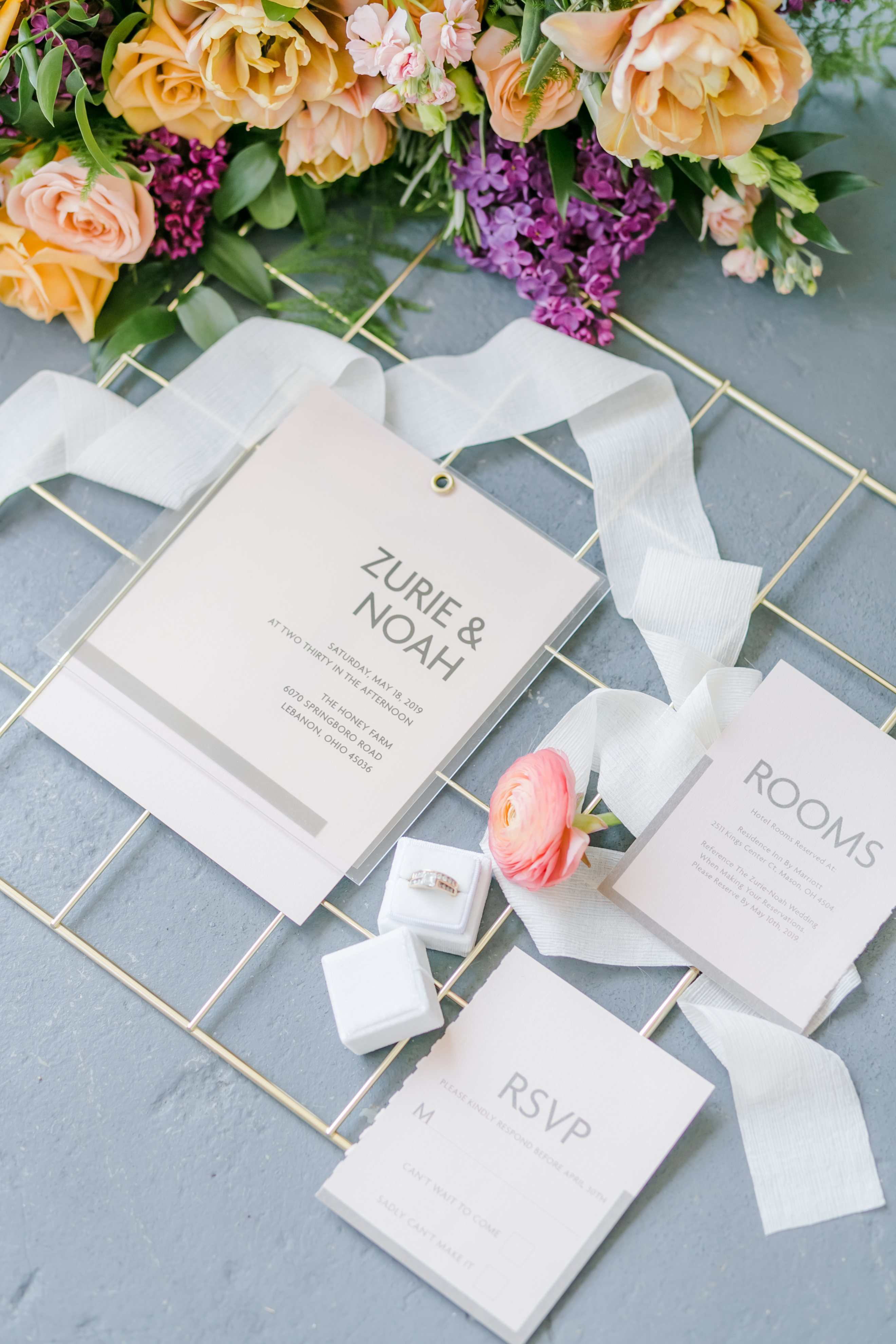 minimal acrylic invitation