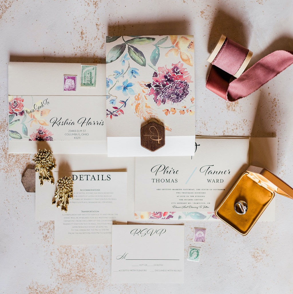 fall florals invitation