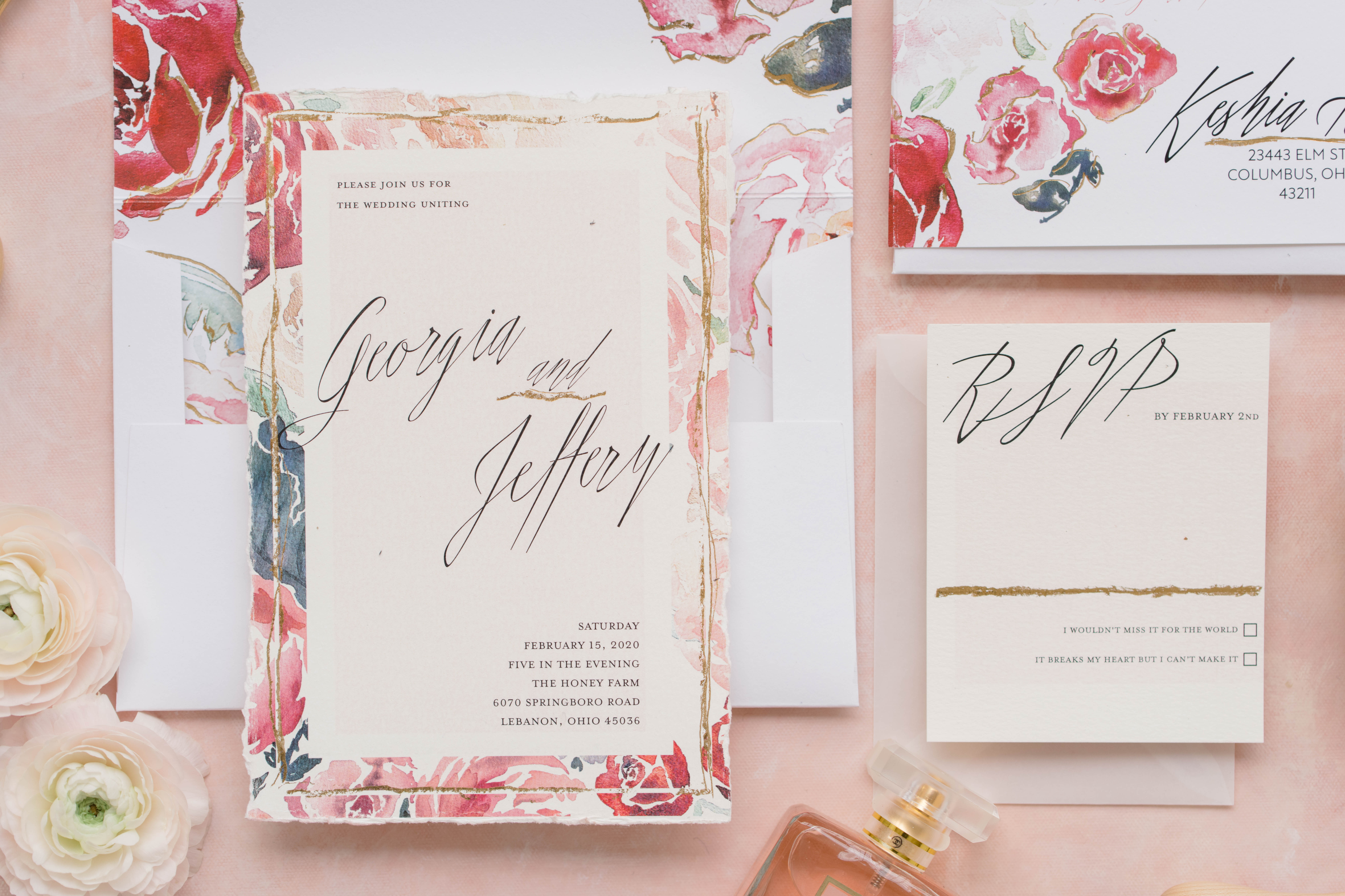 blush, pink and red floral