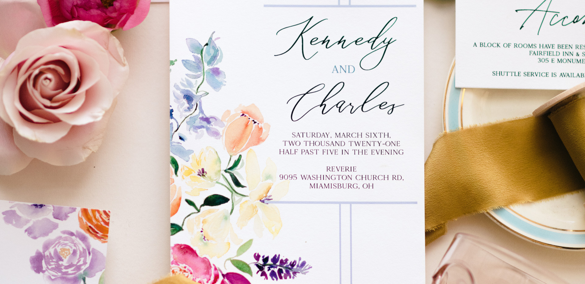j-char-designs-pastel-florals-with -wax-seal-watercolor invite