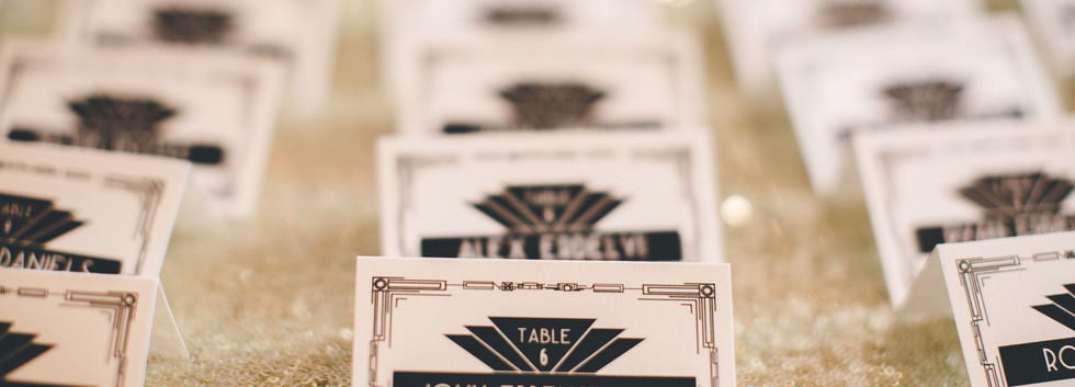 art deco gatsby place cards